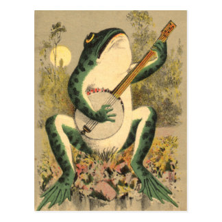 Froschserenade-Postkarte Postkarte