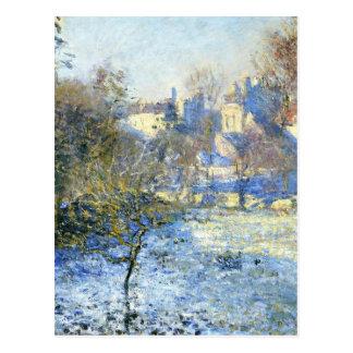 Frost durch Claude Monet Postkarte