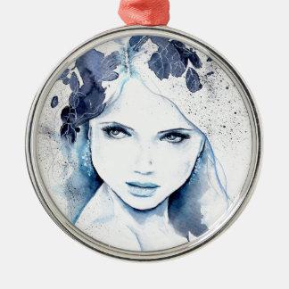 Frost Flower Silbernes Ornament
