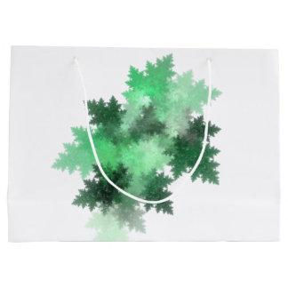 Frost-Fraktal-Kunst-Entwurf in der grünen Große Geschenktüte