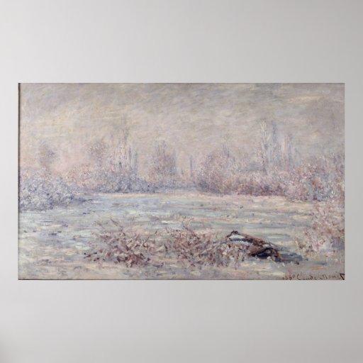 Frost nahe Vetheuil, 1880 Plakatdrucke