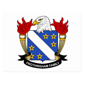 Frothingham Familienwappen Postkarte