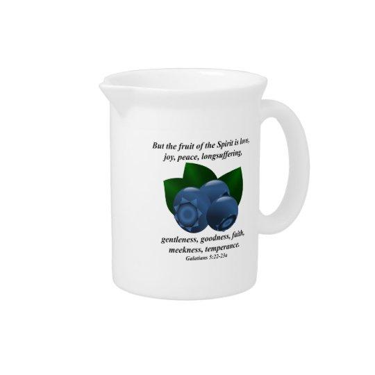 Frucht des Geist-Maine-Blaubeerbibel-Verses Getränke Pitcher