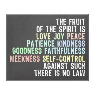 Frucht des Geist-Tafel-Blick-Bibel-Verses Leinwanddruck