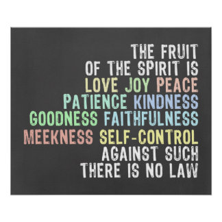 Frucht des Geist-Tafel-Blick-Bibel-Verses Poster