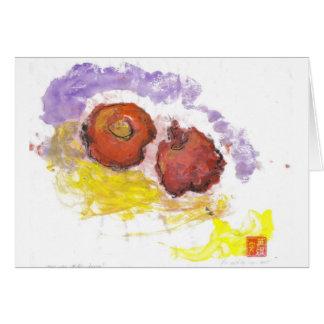 Frucht des Wohlstandes - Granatapfel und Persimone Karte