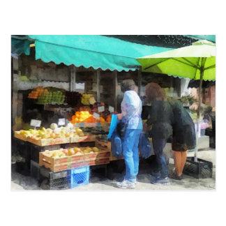 Frucht für Verkauf Hoboken NJ Postkarte