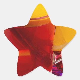 Frucht-Glühwein mit Zimt und Orange Stern-Aufkleber