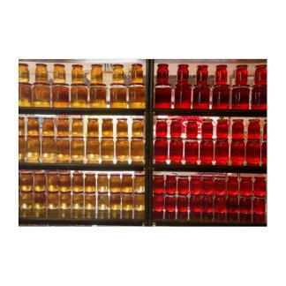 Frucht-Konserven am Markt Acryldruck