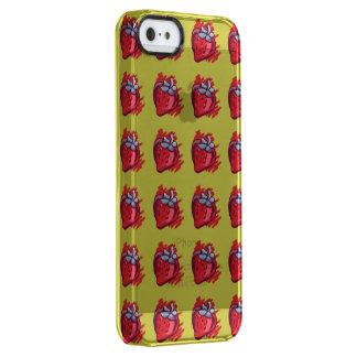 Frucht kopiert Erdbeeren auf Gold Electrinics Durchsichtige iPhone SE/5/5s Hülle