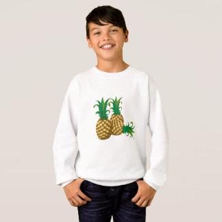 Frucht mit drei Ananas Sweatshirt