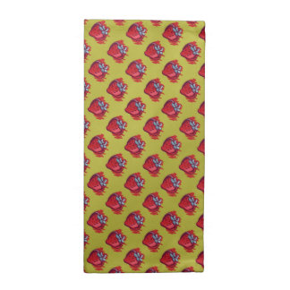 Frucht-Muster-Erdbeeren auf GoldParty-Material Serviette