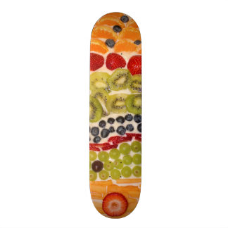Frucht-Pizza-Nahaufnahme-Foto 19,1 Cm Old School Skateboard Deck