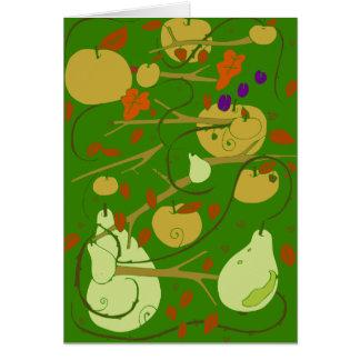 Frucht-Schablone Karte