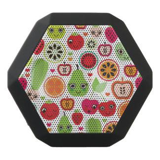Frucht scherzt Illustrationsapfel Schwarze Bluetooth Lautsprecher