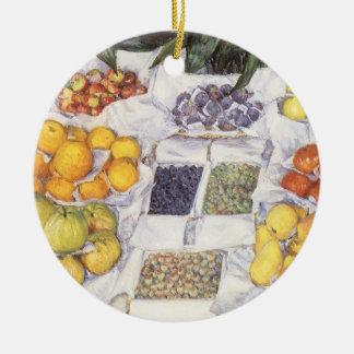 Frucht stehen Gustave Caillebotte, Vintage Kunst Keramik Ornament