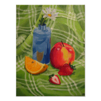 Frucht-Stillleben Poster