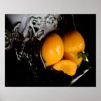 Frucht-Stillleben Schwarzplakat Poster