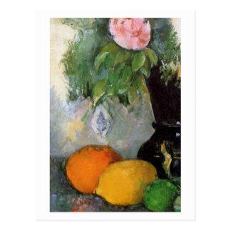 Frucht und Blumen durch Paul Cezanne Postkarte