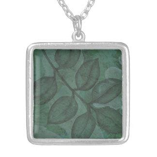 Fruchtbare grüne Blatt-Natur-Halskette Versilberte Kette
