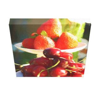 Früchte im Fokus Leinwanddruck