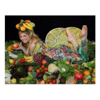 früchte obst postkarte, post card, vegetarian card postkarten