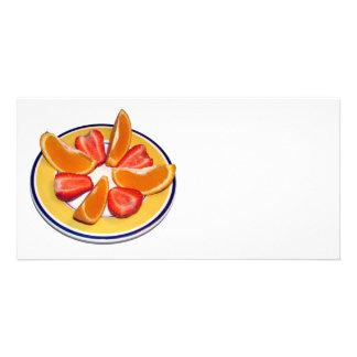 Früchte Photo Grußkarte