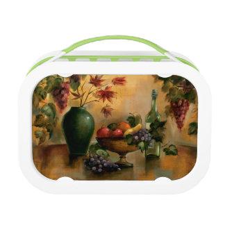 Früchte und Wein mit Herbst-Farben Brotdose