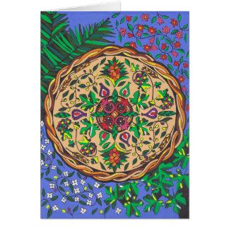Früchte von Israel-Mandala Karte