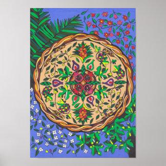 Früchte von Israel-Mandala Poster