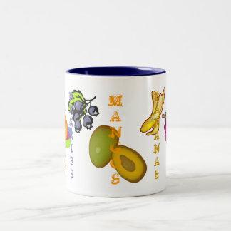 Fruchtige Mangos Zweifarbige Tasse