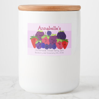 Fruchtiger Spaß gemischter Beeren-Entwurf Lebensmitteletikett