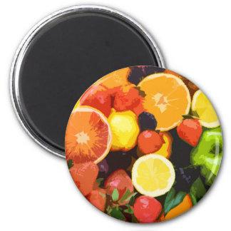 Fruchtmuster Runder Magnet 5,7 Cm