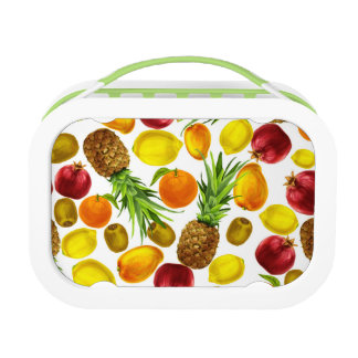 Fruchtmuster Yubo Lunchbox, grün Brotdose