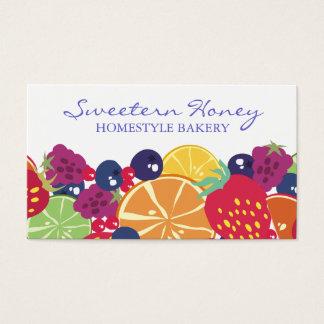 Fruchtsalat-Erdbeerblaubeerhimbeerzitrusfrucht Visitenkarte