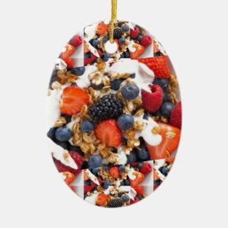 Fruchtsalat-NahrungsmittelKochs-gesunde Keramik Ornament