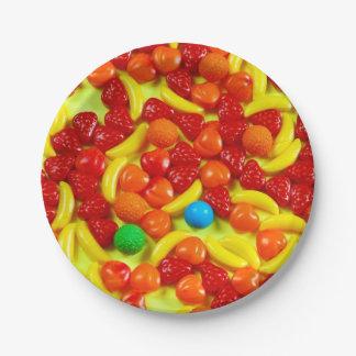 Fruchtsüßigkeitsmuster Pappteller