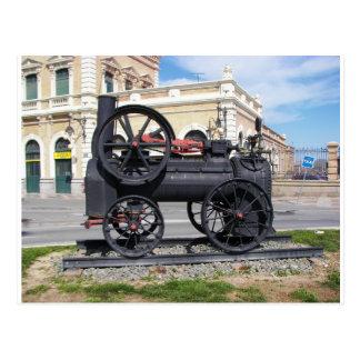 Frühe Dampf-Lokomotive in Cartagena Postkarte