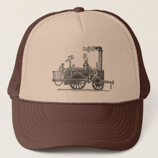 Frühe Dampf-Lokomotive Truckerkappe