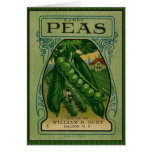 Frühe Erbsen-Vintages Samen-Paket Karten