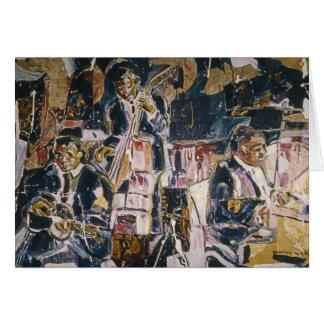 Frühe Jazz-Musik-Kunst-Karte Karte