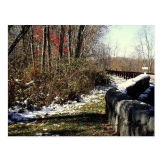 Frühe Schneefälle auf dem Cherohala Skyway Postkarte