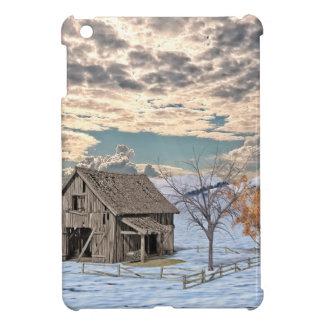 Frühe Winter-Scheunen-Szene iPad Mini Hüllen