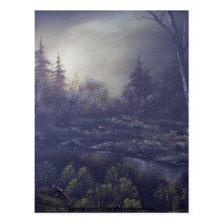 Früher Morgen-Dunst 1 Postkarte