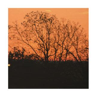 Früher Morgen Holzleinwand
