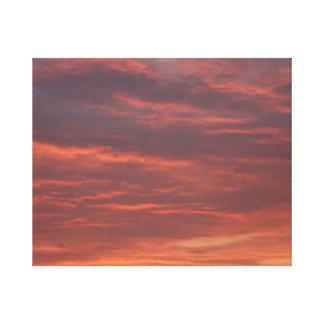 Früher Morgen Leinwand-Druck Leinwanddruck