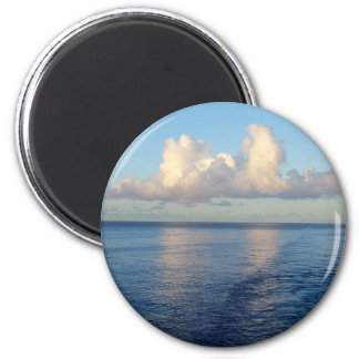 Früher Morgen Meerblick-Wolkenreflexionen Runder Magnet 5,1 Cm