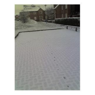 Früher Morgen-Schnee, Tonbridge 24-01-07 08.21am Postkarte