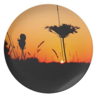 Früher Sonnenaufgang Teller