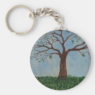 Frühjahr-Baum-themenorientierte Schlüsselkette Standard Runder Schlüsselanhänger